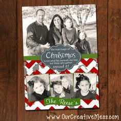 Chevron Christmas Photo Card
