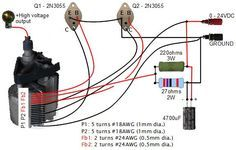 20kv Dc High Voltage Flyback Power Supply Circuit Power Supply Circuit Electronic Circuit Projects Tesla Technology