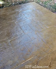 gorgeous diy stamped concrete tile driveway for less much less - Concrete Tile Garden Decor
