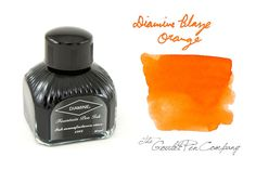 """Diamine """"Blaze Orange"""" Fountain ink. (It will paint your paper into a tangerine sunset! Sunlight, stars, and gold all into one!) http://www.gouletpens.com/D7035/p/D7035"""