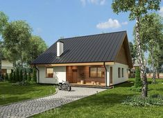 projekt domu C333b Miarodajny - wariant II - Murator projekty Small House Design, Cottage Design, Barn Living, Little Houses, Home Fashion, Exterior Design, House Plans, New Homes, Home And Garden