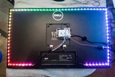 DIY Ambilight with Arduino and WS2812B LEDs - Imgur Copper Uses, Pixel Color, Printer Toner, Raspberry Pi Projects, Proof Of Concept, Custom Pc, Computer Setup, Eye Strain, Simple Colors