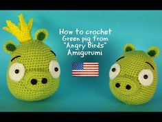 "Green Pig ""Angry Birds"" Amigurumi 