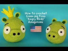 Amigurumi Green Pig : Angry Bird Red Cardinal and Pig - Free Amigurumi Pattern ...