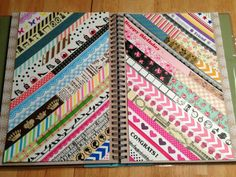 Decorate journals and smash books with washi tape