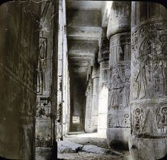 Egypt: Medinet Habou [?], Thebes. by Brooklyn Museum, via Flickr