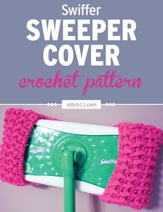 This Swiffer Sweeper Cover crochet pattern fits most Swiffer mops, no need to bu… Crochet Kitchen, Crochet Home, Crochet Gifts, Diy Crochet, Swiffer Pads, Swiffer Refill, Diy Laine, Knitting Patterns, Crochet Patterns