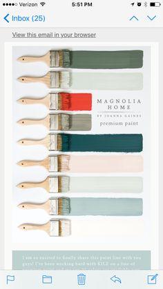 Love This Colour Palette Magnolia Home By Joanna Gaines Premium Paint