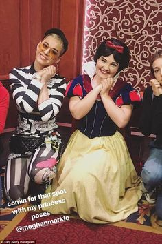 Charmed! The 33-year-old songstress shared images and videos to her Instagram account as she posed up a storm with princesses before jumping on her favorite rides with friends at the amusement park