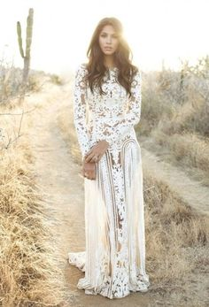 dress white vintage boho boho dress floral white maxi dress summer white dress wedding clothes wedding dress bohemian boho wedding dress hipster wedding lace dress lace beautiful long sleeve dress long sleeves cream coloured dress lacey dress long dress