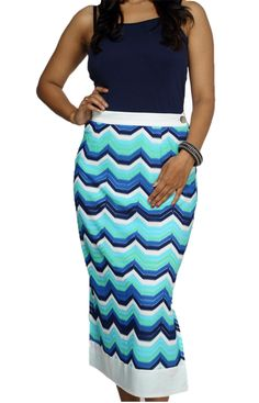 Missoni Panel Skirt by Shefali Vohra Chawla