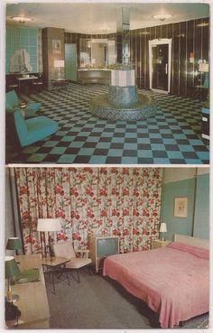 New York City Postcard HOTEL WILSON w/ Lobby & Room Interior View c1950s