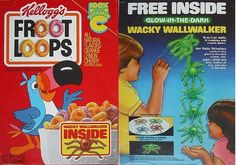 Wacky wall walkers.  My brother and I got one of these in a box of something-or-other and had a lot of fun sending them down the wall for about a day until they lost its ability to crawl.  I also vividly remember getting yelled at by my parents for smearing his dusty remains on the wall.