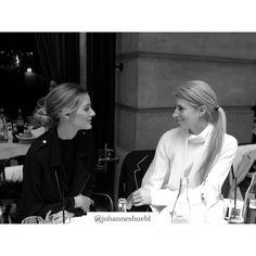 """Paris Diary - @oliviapalermo + @sarahharrisuk at lunch"""