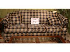 Checkered Sleeper Sofa