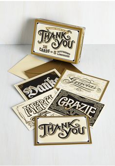 cool thank you cards