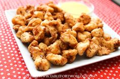 Copycat Chick-Fil-La nuggets and sauce. I made these for supper tonight and they were AMAZING!