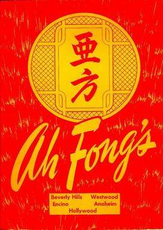 Ah Fong's menu, Vintage Menu, Vintage Recipes, Vintage Food, Vintage Restaurant, Chinese Restaurant, Chinese Branding, Wm Logo, Chinese Menu, Menu Layout