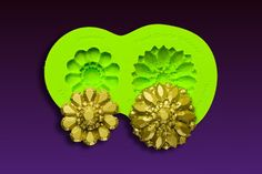 We named this silicone brooch mold, #Jeweled because of the incredible faceted details present in the the two designs that this silicone mold produces. As a part of the Marina Sousa Collection, you can feel confident that these designs will add style and eye catching appeal when produced in sugar, chocolate, fondant or gumpaste. Made with the highest quality, food grade silicone to produce an extremely durable silicone mold that is tear resistant and can withstand temperatures to 400° F.