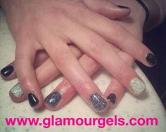 """One of our newest colors, """"Lime Sherbet,"""" with a tortoise shell print. www.glamourgels.com"""