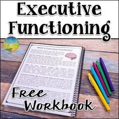 Executive Functioning Workbook Free Version by Pathway 2 Success Study Skills, Coping Skills, Social Skills, Therapy Worksheets, Working Memory, School Social Work, Time Management Skills, Executive Functioning, School Counseling