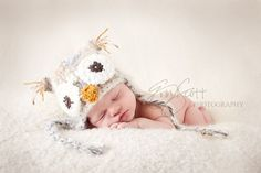 Baby Girl Owl HatComes with Flower ClipDark by HatAndColdCrochet, $44.00