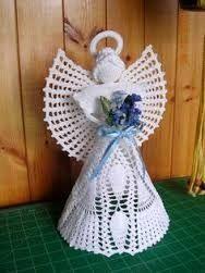 Resultado de imagem para crochet angel ornament pattern free