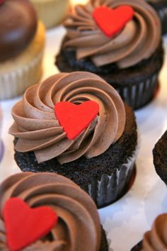 Cupcakes con mucho amor