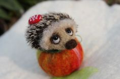 Pin Hedgehog with fly agaric and he is by UkrainianHouseofArt