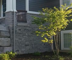 Halquist Charcoal Ledge stone from a recent project Exterior Remodel, Charcoal, Stone, Projects, Log Projects, Rock, Blue Prints, Rocks, Stones
