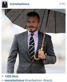 David Beckham. Always looking sharp.