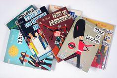 collection of vintage books by Miroslav Sasek