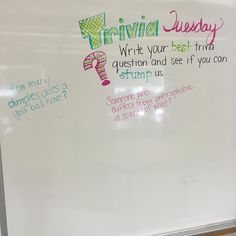 Since Fun Fact Friday was such a HUGE success.Let's see how many of us can stump or be stumped. Huddle Board, Classroom Whiteboard, Morning Board, Fun Fact Friday, Morning Activities, Daily Writing Prompts, Bell Work, Responsive Classroom, Classroom Community