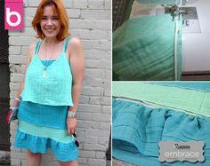 BurdaStyle Tiered Embrace® double gauze dress - so easy breezy - DIY sewing project tutorial by Meg @burdastyle