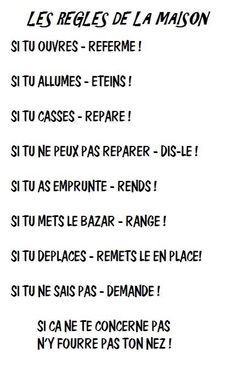 on mets cela ou dans la maison ce tableau! French Expressions, Quote Citation, French Quotes, Teaching French, Learn French, Some Words, Positive Attitude, Decir No, Affirmations