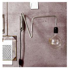 Wandlampe Wallmet Metal Bewegliche Wandlampe Wallmet im Industriedesig