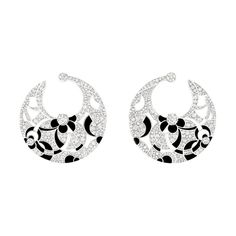 Chanel Café Society Midnight earrings