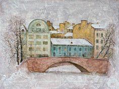 "Nikolay Bogomolov — ""White city"", oil on canvas, 60*80cm, 2010 / Saint Petersburg, Russia"