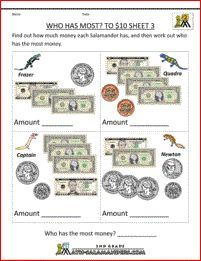 Free Grade Money Worksheets Pictures - Grade Math Worksheet For Kids - Math Worksheet for Kids Counting Money Worksheets, 1st Grade Math Worksheets, 2nd Grade Math, Worksheets For Kids, Division Activities, Icebreaker Activities, Learning Money, Money Problems, Teaching Math
