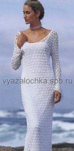 Длинное свадебное платье крючком со схемой - ВЯЗАНАЯ МОДА+ ДЛЯ НЕМОДЕЛЬНЫХ ДАМ - Страна Мам