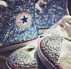 Crystal Converse Handmade Alternative Wedding Shoes Revive Me Boutique