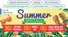 Social Media Packages, Social Media Ad, Website Maintenance, Summer Special, Google Ads, Corporate Branding, Online Advertising, Company Profile, Design Development