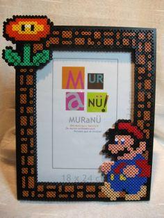Mario photo frame hama perler beads by Nath Hour