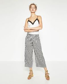 ZARA - COLLECTION AW16 - FLOWING CROPPED TROUSERS