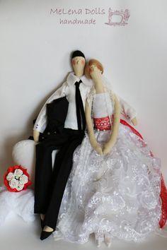 Melena Dolls by Elena Kolodko www.facebook.com/melenadolls Tilda Doll - Tildas - Handmade - Sewing - Tilda - Home - Angel - Girl - Beautiful - Bride - Groom - Wedding