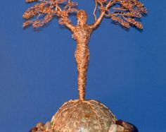 Tree of Love in copper or multicolored wire от TwistedGypsyArt