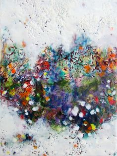 Original Encaustic Painting - Abstract Floral Painting - Encaustic Art - Abstract Flowers - Beeswax Painting - KLynnsArt