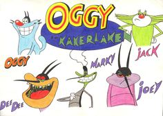The casts of Oggy