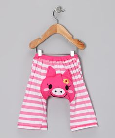 Take a look at this Pink Pig Pants - Infant & Toddler by KAZOO on #zulily today!