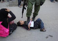 A Palestinian girl and an Israeli soldier!!